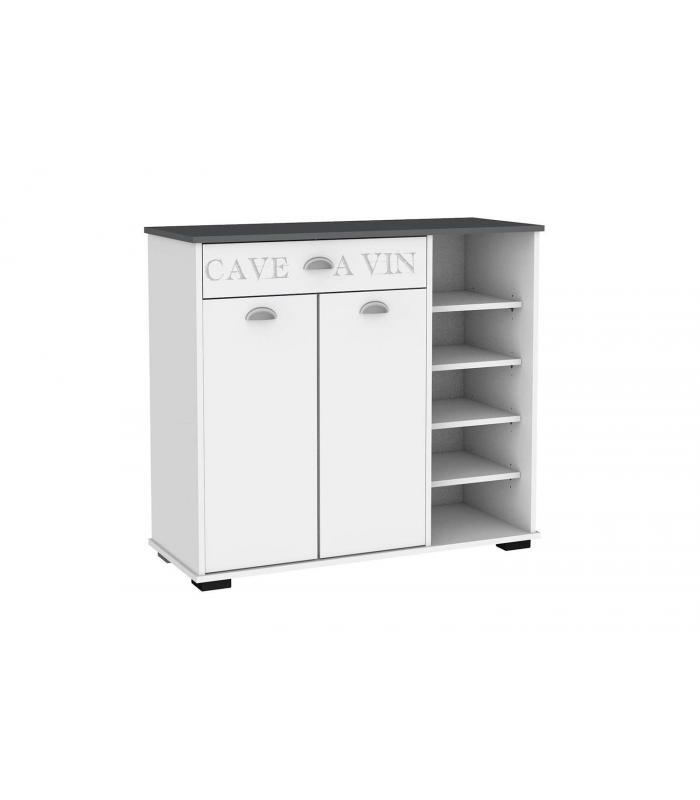 Aparador Rustico Madeira Barato ~ Aparadores Liquidatodo Aparador 2 puertas 1 cajón con estantes moderno y barato en blanco