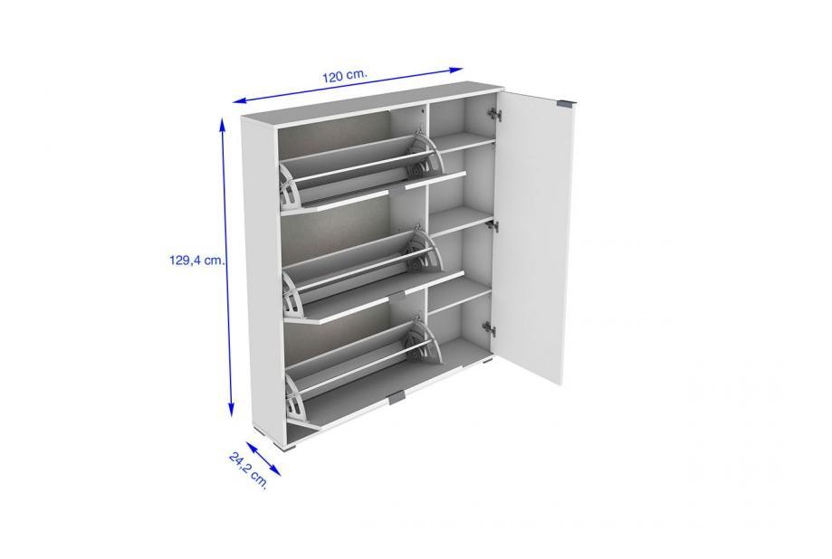 Zapatero 3 trampones y compartimento para botas moderno y barato blanco/broadway