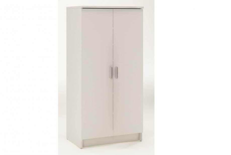 Zapatero de 2 puertas y 6 estantes modeno y barato en blanco