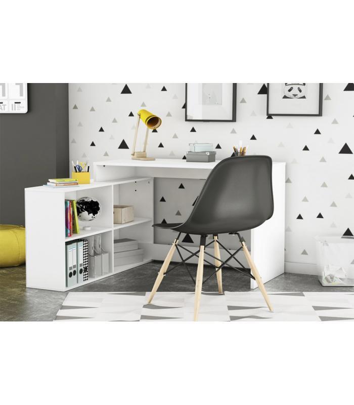 Mesas de oficina liquidatodo escritorio de rincon for Escritorio moderno blanco
