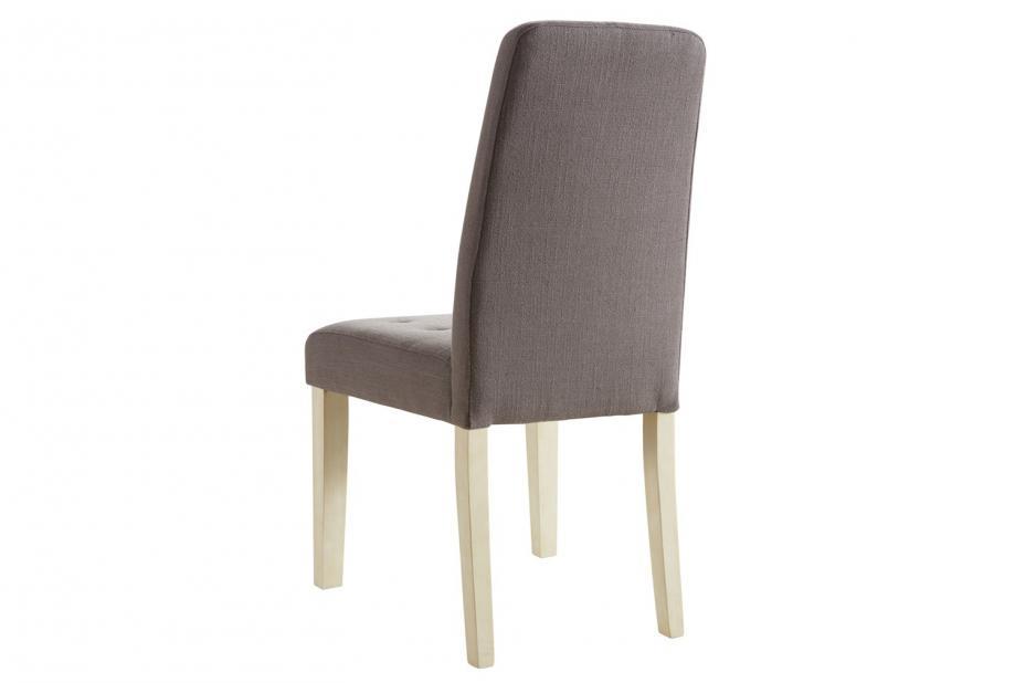 Pack 2 sillas de comedor moderna y barata acolchadas y tapizadas en color taupe
