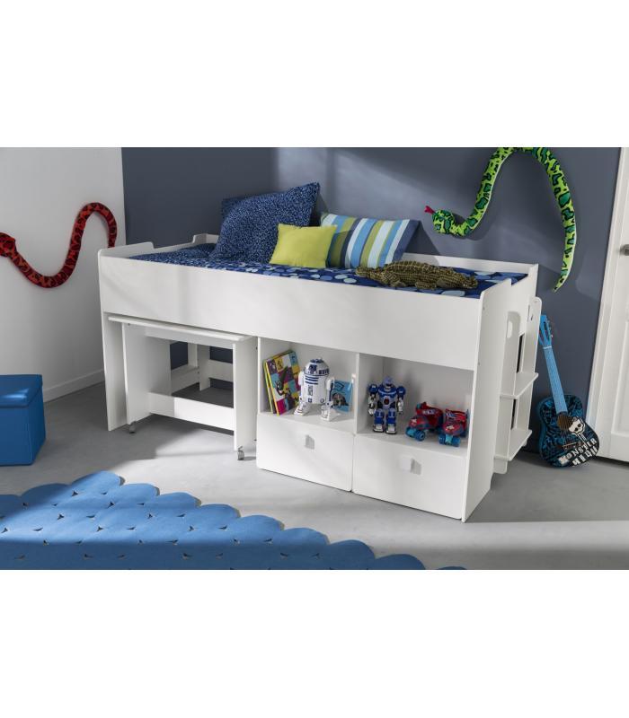 Literas liquidatodo cama con escritorio moderna y - Camas literas con escritorio ...