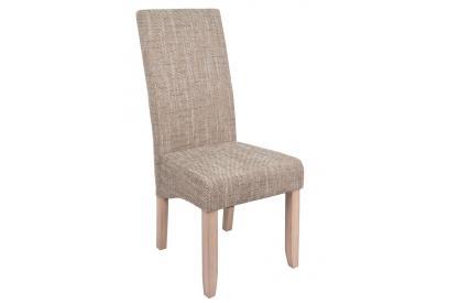 Pack 2 sillas de comedor tapizada en beige