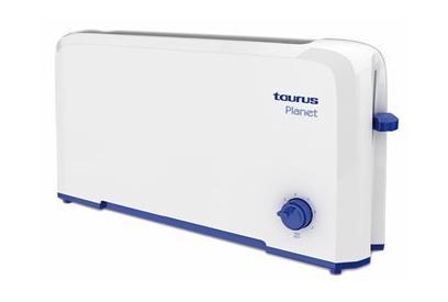 Liquidación de Tostadora 2 ranuras Taurus Planet 800W Azul, Color blanco