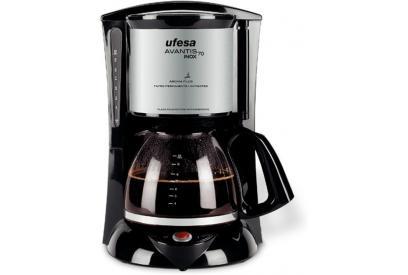 Liquidación de Cafetera de filtro 1L 15tazas Ufesa CG7232 Avantis 70 Inox Negro, Gris