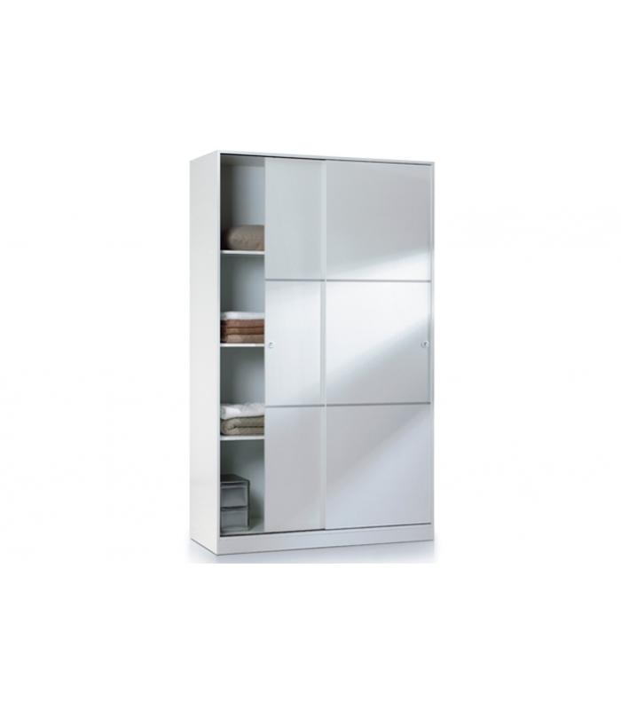 Armarios liquidatodo armario max020bo 2 puertas correderas for Armario puertas correderas wengue