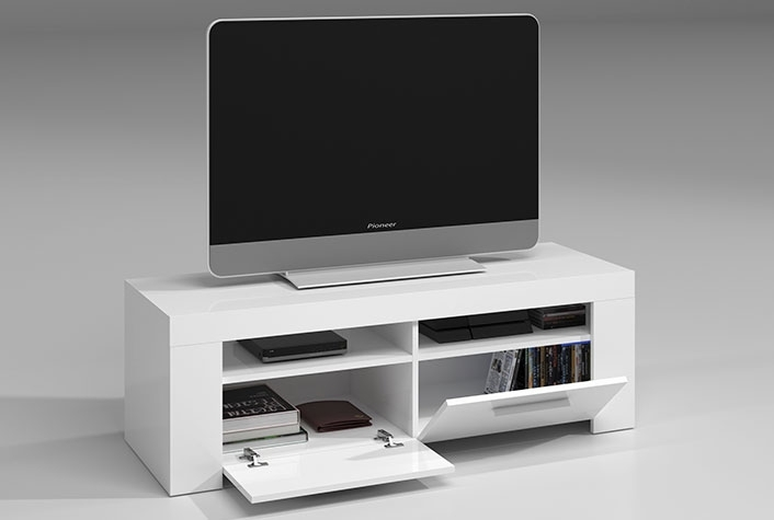 Muebles De Tv Liquidatodo Mueble Tv Blanco Brillo Ambit