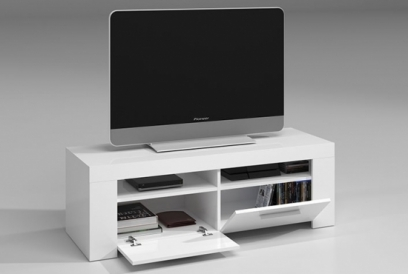 Mueble TV blanco brillo Ambit