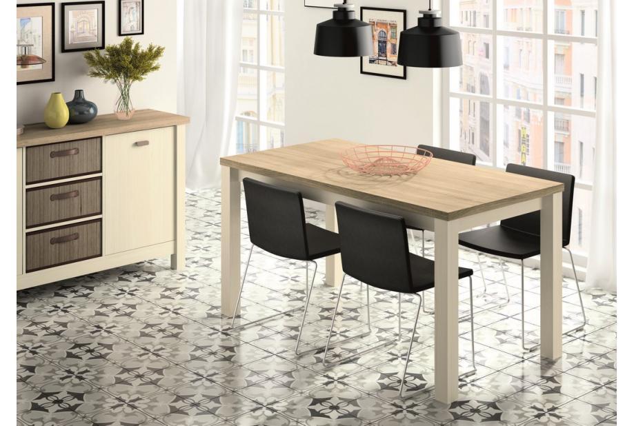 Mesa de comedor nórdica en color Pino Cambrian