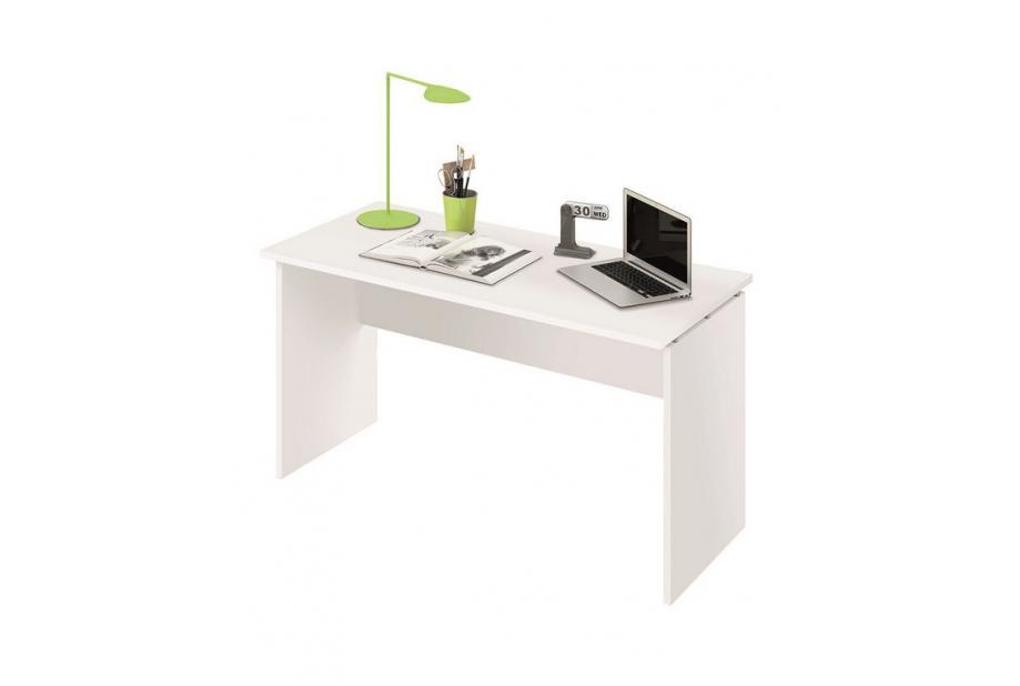 Mesa de despacho de 120 cm en blanco alto brillo
