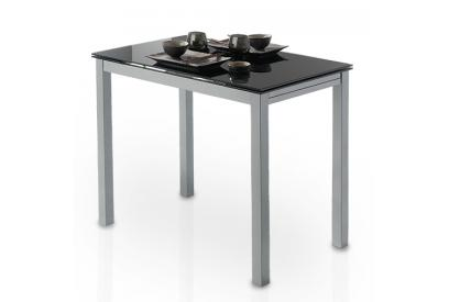 Mesa de cocina extensible Negro, plateado