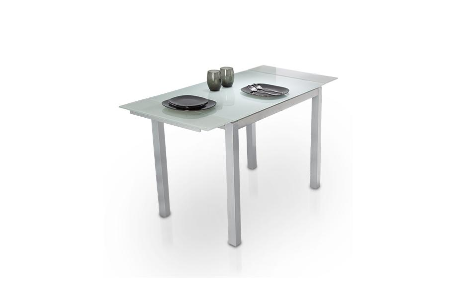 plateado moderna y barata Mesa de cocina extensible con ...