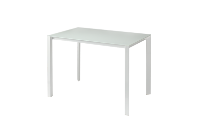 Mesa con sobre de vidrio Blanco