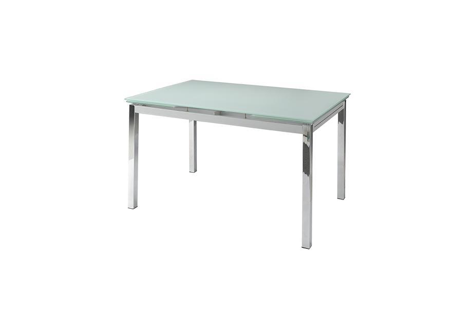 Mesa extensible con sobre de vidrio Blanco, plateado