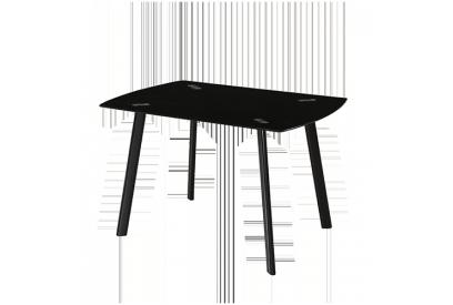 Mesa con sobre de vidrio Negro