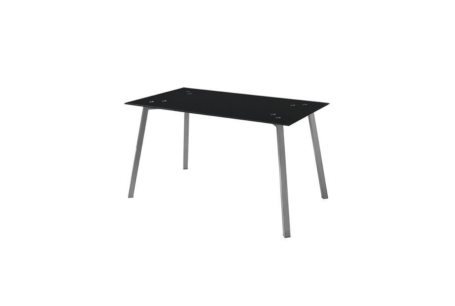 Mesas de comedor liquidatodo mesa con sobre de vidrio for Comedor negro con gris