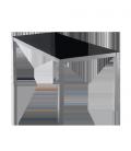 Mesa con sobre de vidrio Negro, plateado