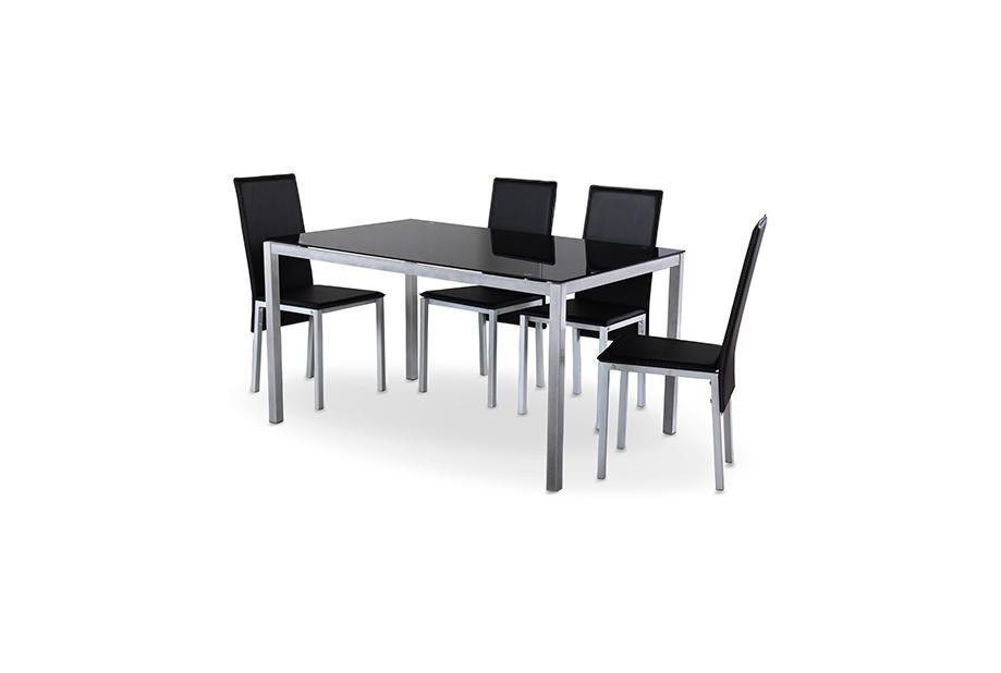 Mesas de comedor liquidatodo mesa con sobre de vidrio for Mesa comedor cristal negro