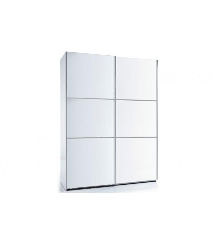 Armarios liquidatodo armario moderno con puertas correderas color blanco - Armario blanco puertas correderas ...
