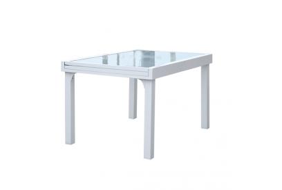 Mesa extendible de jardin en aluminio Blanco