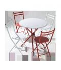 Conjunto de mesa y 4 sillas Rojo, blanco