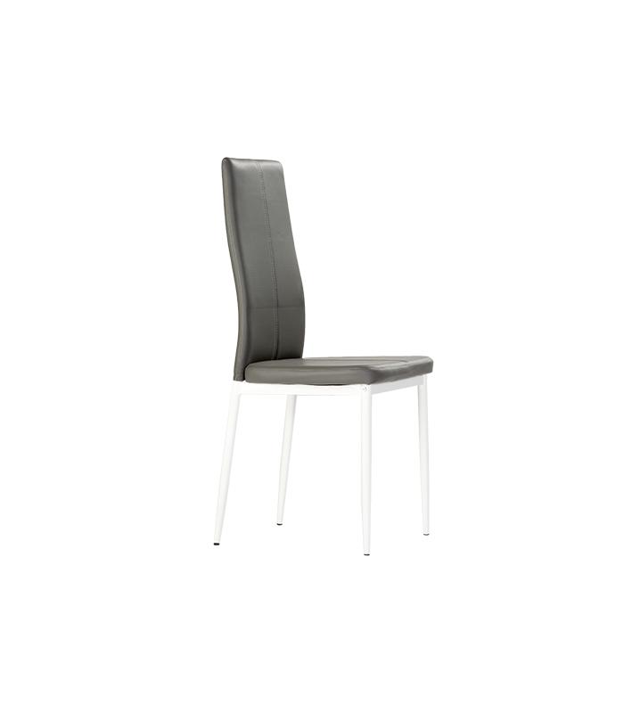 Sillas de comedor liquidatodo set de 4 sillas de for Sillas de comedor tapizadas en gris