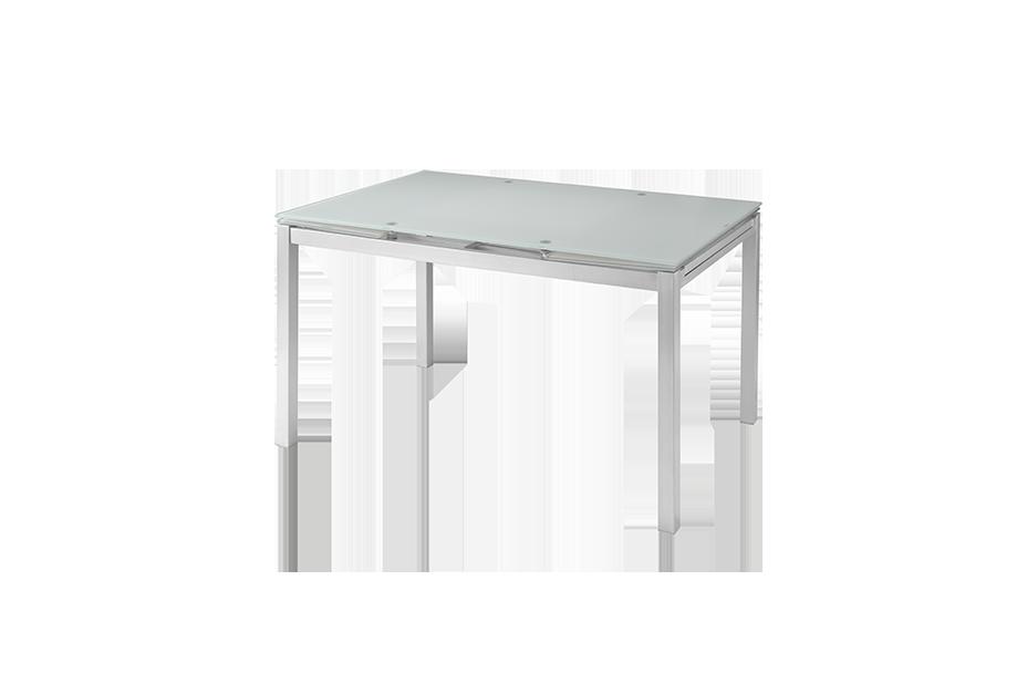 Mesas de comedor liquidatodo mesa extensible con for Encimera blanco cristal