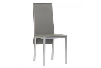 Set de 4 sillas en polipiel color gris
