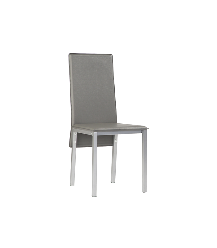 Sillas de comedor liquidatodo set de 4 sillas en for Sillas comedor color gris