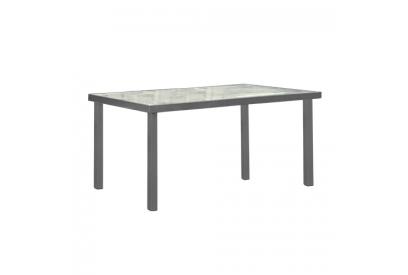 Mesa de jardín en aluminio Gris plata, transparente