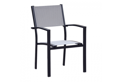 Set de 4 sillas de jardín de aluminio Gris antracita, gris jaspeado