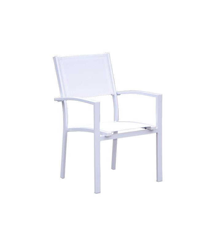 Sillas de jard n liquidatodo set de 4 sillas de jard n de aluminio blanco - Sillas de aluminio para jardin ...
