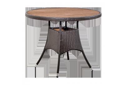 Mesa de jardin en rattan sintético Marrón chocolate, teka