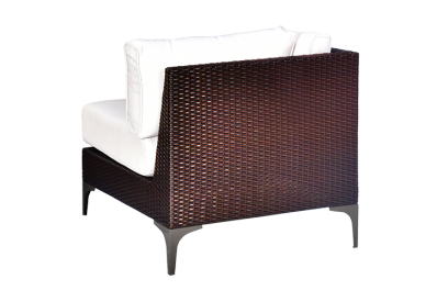 Módulo de terraza en rattan sintético Marrón chocolate, beige