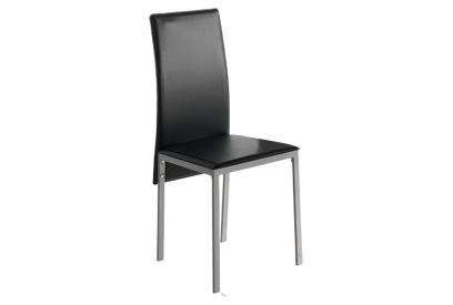 Set de 4 sillas de cocina Negro, plateado
