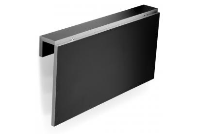 Mesa de cocina abatible Negro, gris, plateado
