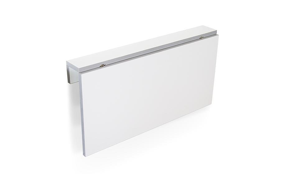Mesa de cocina abatible Blanco, gris, plateado