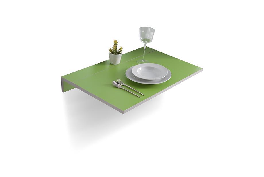 Mesa de cocina abatible Verde, gris, plateado