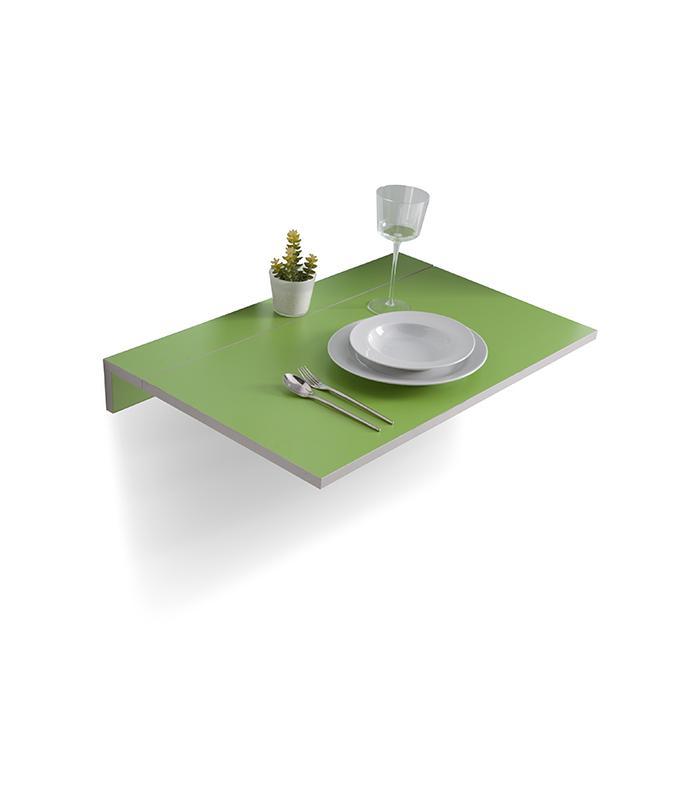 Mesas de cocina liquidatodo mesa de cocina abatible verde gris plateado - Mesa de cocina abatible ...