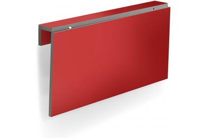Mesa de cocina abatible Rojo, grey, plateado