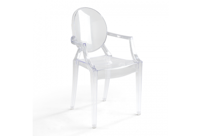 Set 4 sillas de diseño Transparente
