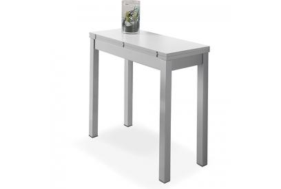 Mesa de cocina extensible con sobre MDF Blanco, gris, plateado