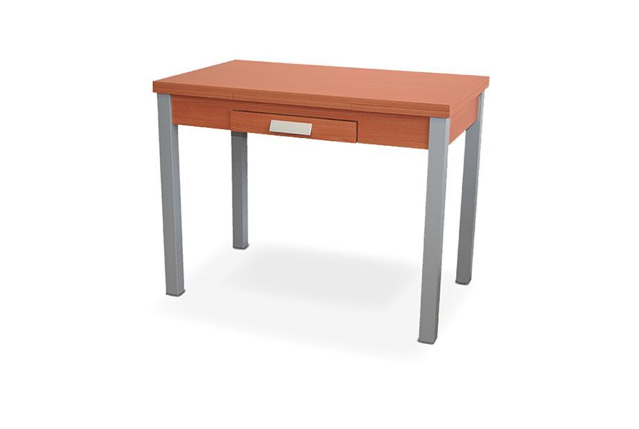 Mesa de cocina extensible con sobre MDF Cerezo, gris plata