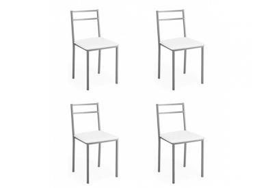 Pack 4 sillas 42 cm de poliuretano-espuma