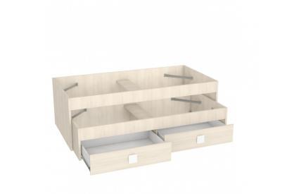 Cama nido Design03 de 204 cm en chapa melaminizada de alta calidad en Acacia