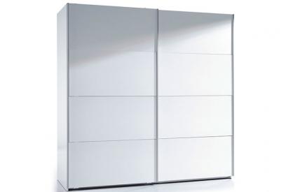 Armario blanco 2 puertas correderas gran capacidad