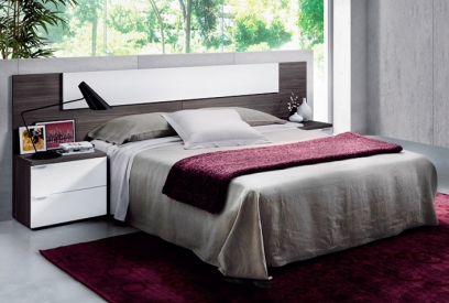 Dormitorio matrimonio moderno Adhara con mesitas