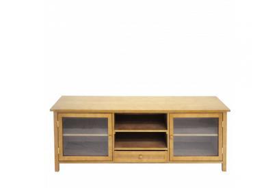 Mesa tv 150 cm con pino macizo acabado roble