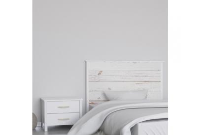 Cabecero cama de matrimonio de 159 cm en chapa melaminizada de alta calidad mix907