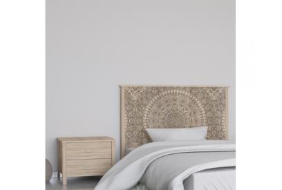 Cabecero cama de matrimonio de 159 cm en chapa melaminizada de alta calidad mix906